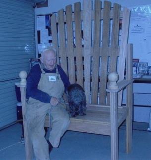 Bill on big chair